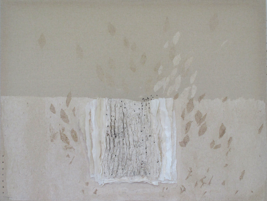 Leaves Are Gone 2 落叶 2, 2012 Ink and Xuan paper 墨和宣纸 58 x 77 in.