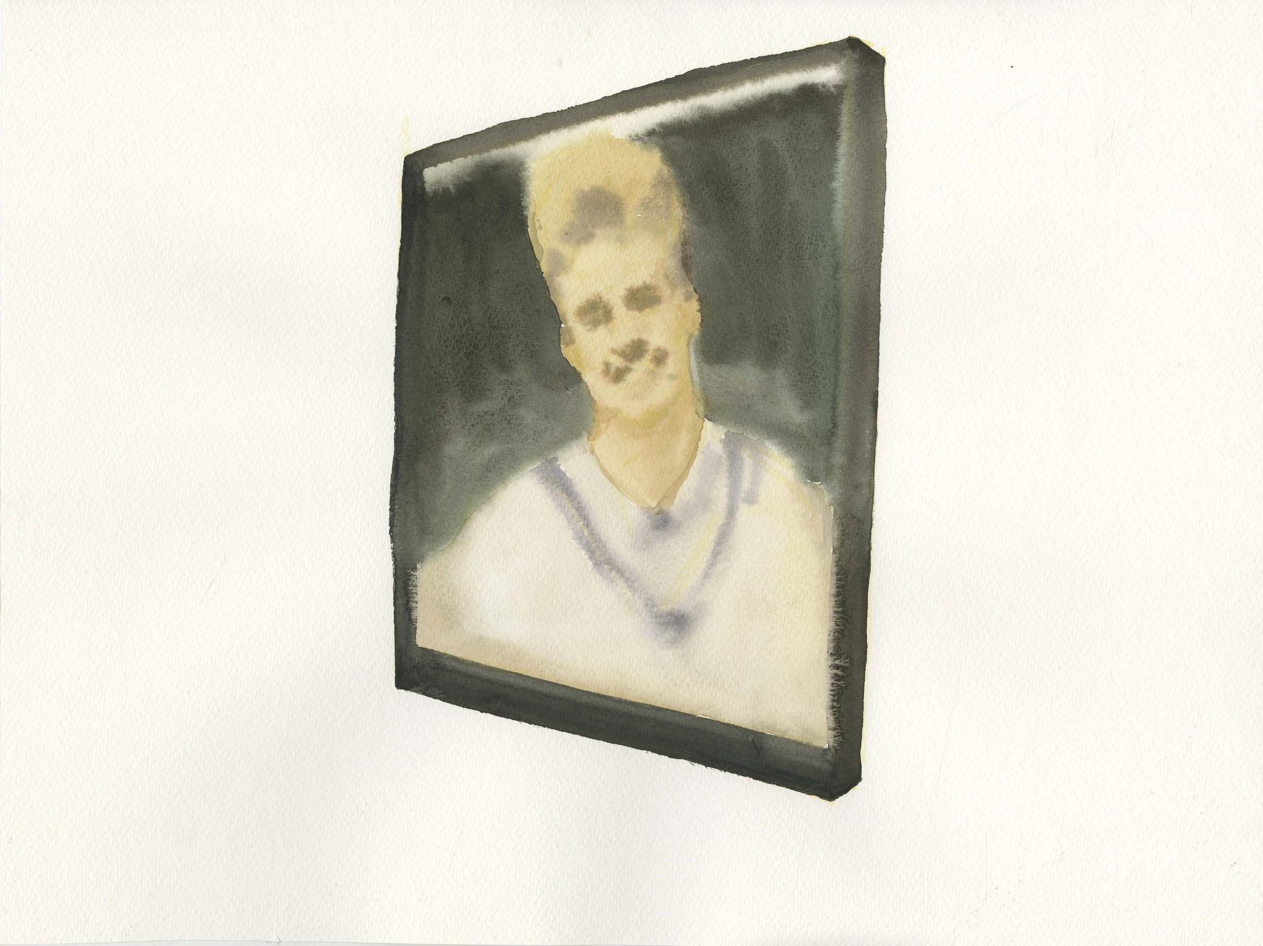 """Sigmar Lynch"", 2014, Watercolor on Paper 纸上水彩 12 x 16.1 in. (30.5 x 40.6 cm)"
