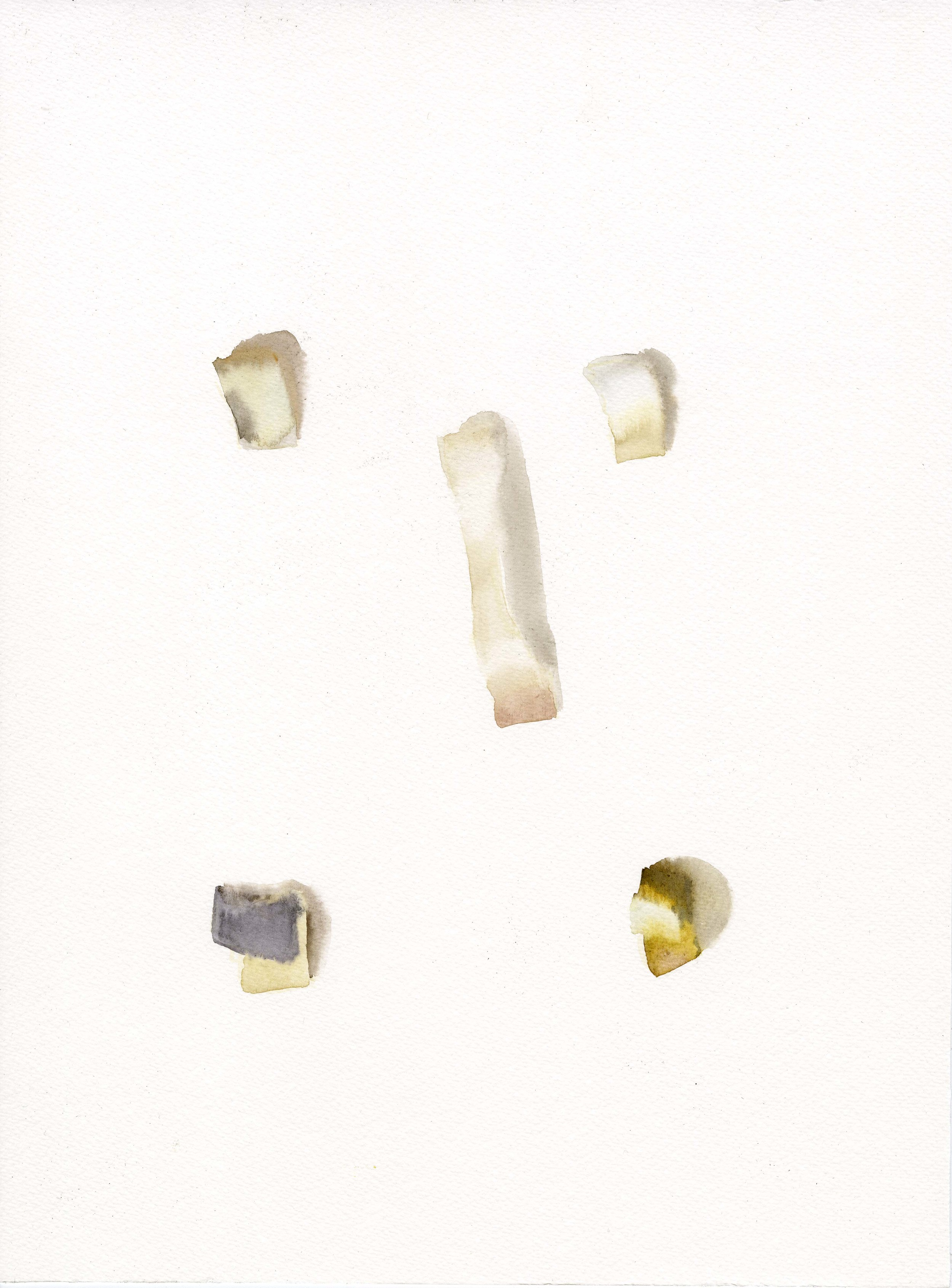 """""""Pinocchio's Face"""", 2014, Watercolor on Paper 纸上⽔水彩 16.1 x 12 in. (40.6 x 30.5 cm)"""