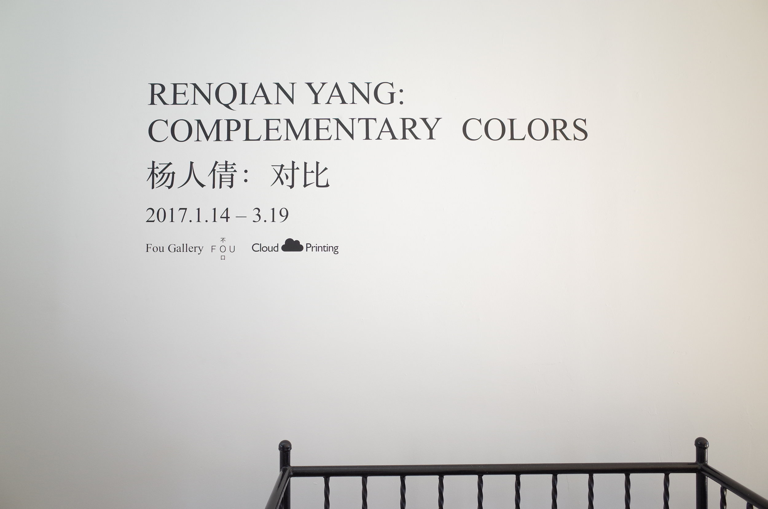 Renqian Yang: Complementary Colors Installation View