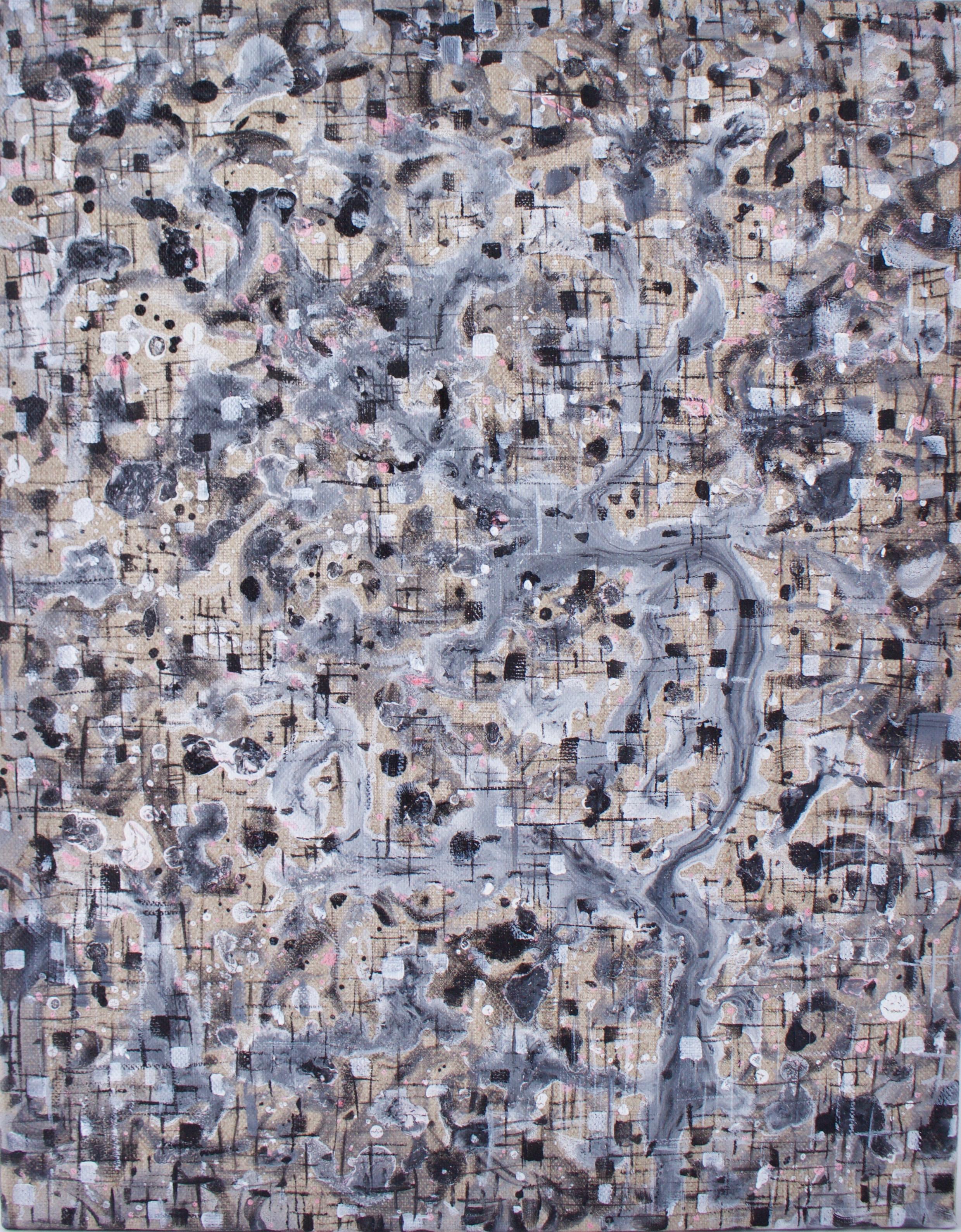 Split Path  ,   Acrylic on canvas,14 x 11 inches , 2016