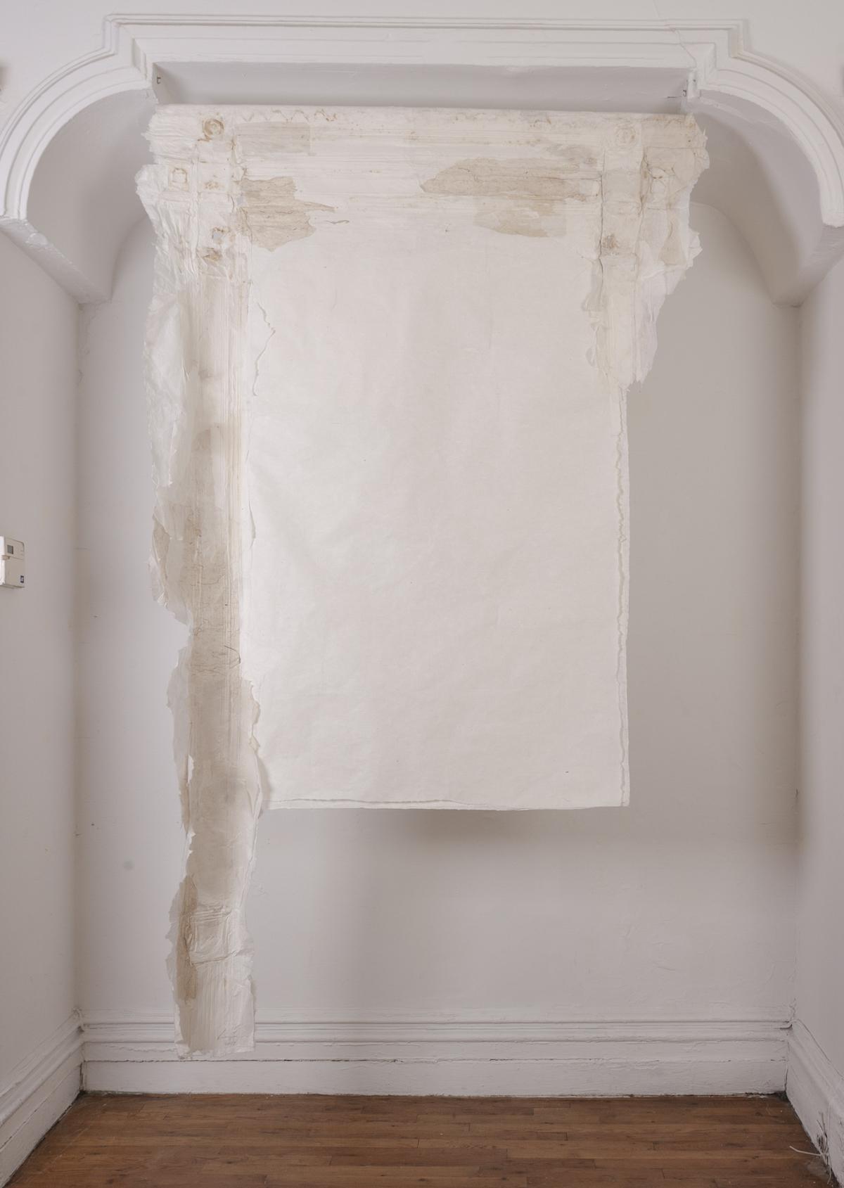 Lin Yan,  Borrowed Scenery  取景, 2017. Xuan paper. 91 x 48 in. (231 x 123 cm) ©2017 Lin Yan, Courtesy Fou Gallery