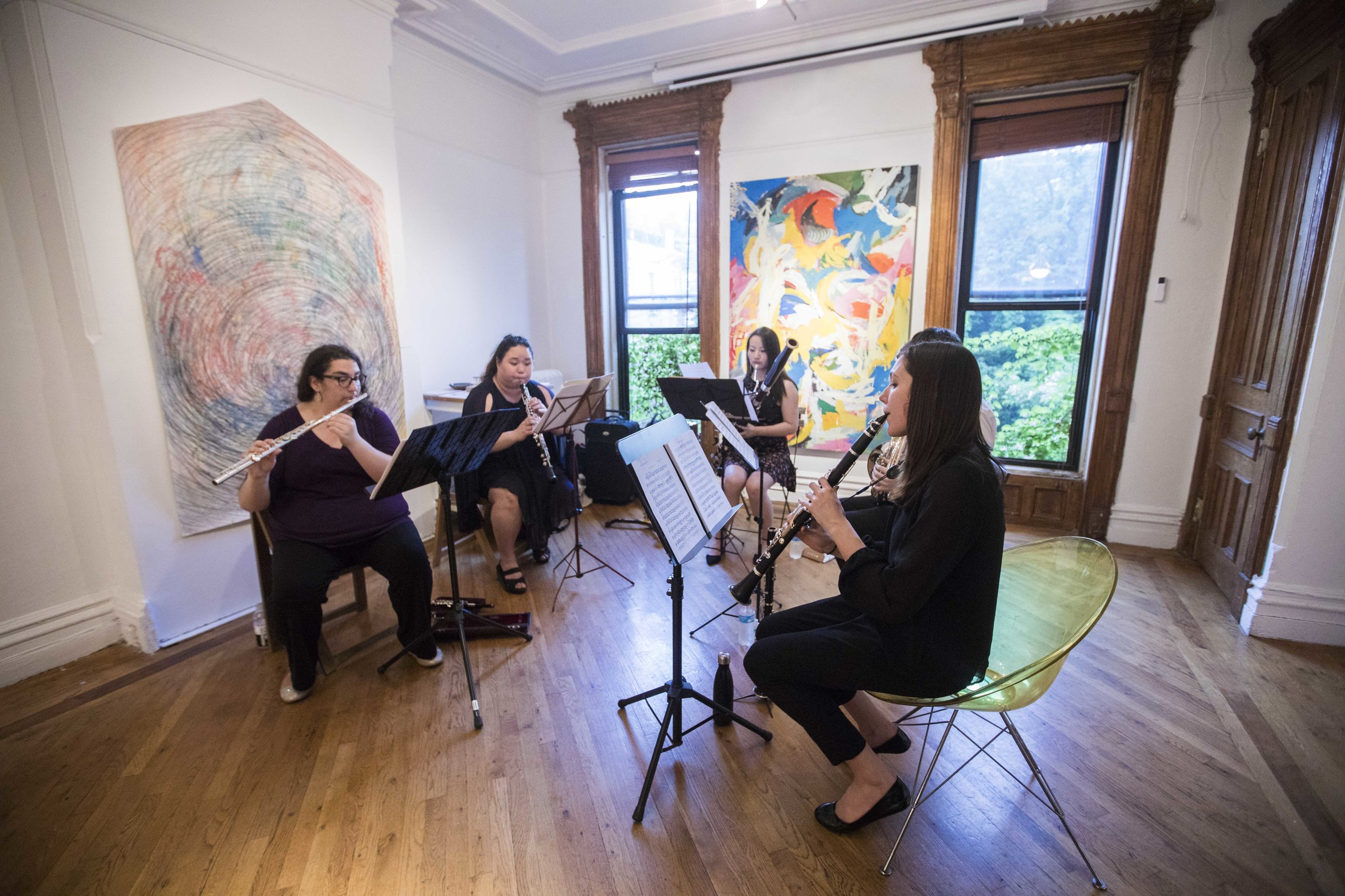 Nevermore - Music Concert  with The Lumisade Quintet at Fou Gallery. Photograph by Nadia Peichao Lin. 昨夜星辰昨夜风 - 木管五重奏音乐会@否画廊,摄影:林沛超.