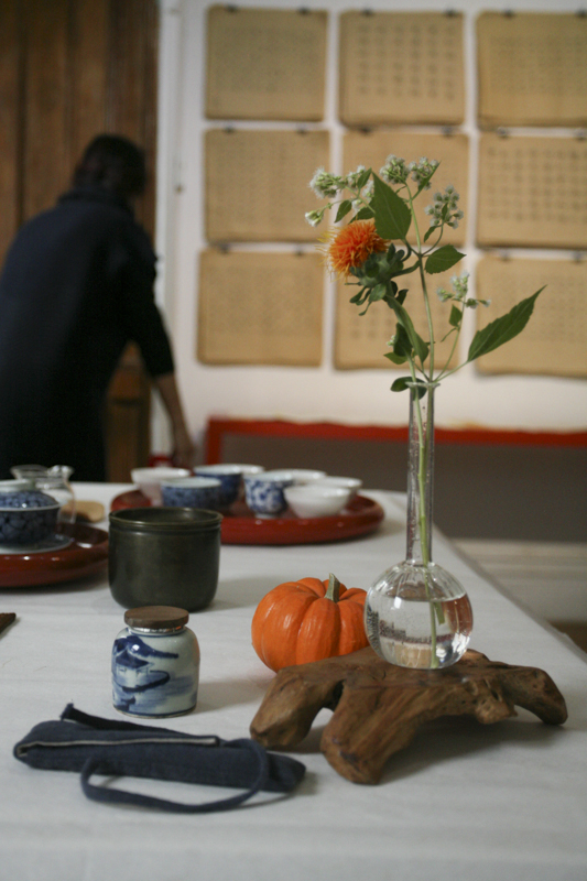 A Gathering - Tea Ceremony and Calligraphy. Photographs by Echo He.