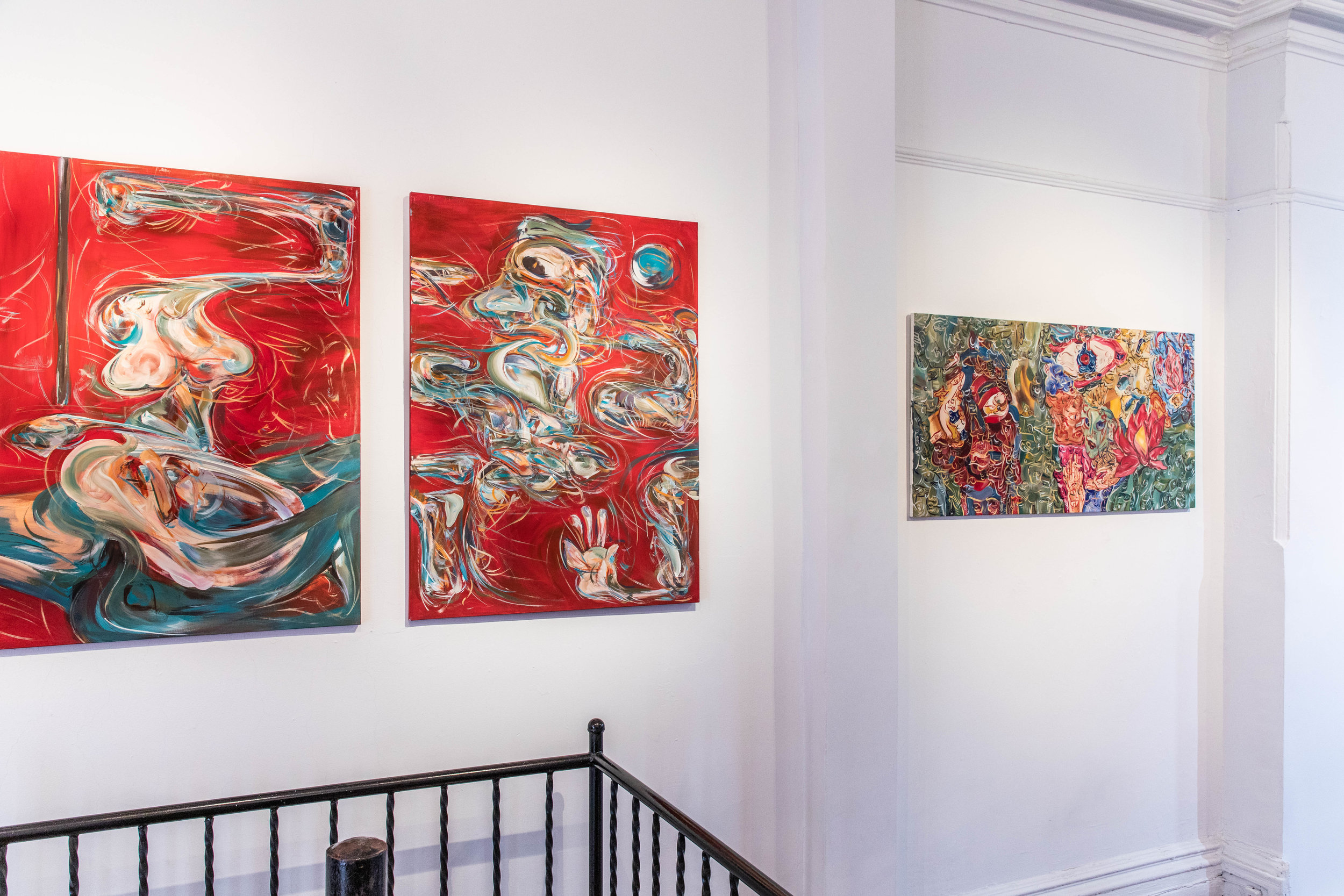 Artificial Boundary  installation view, paintings by Yuan Fang, photograph by Yuan Fang ©Yuan Fang, courtesy Fou Gallery