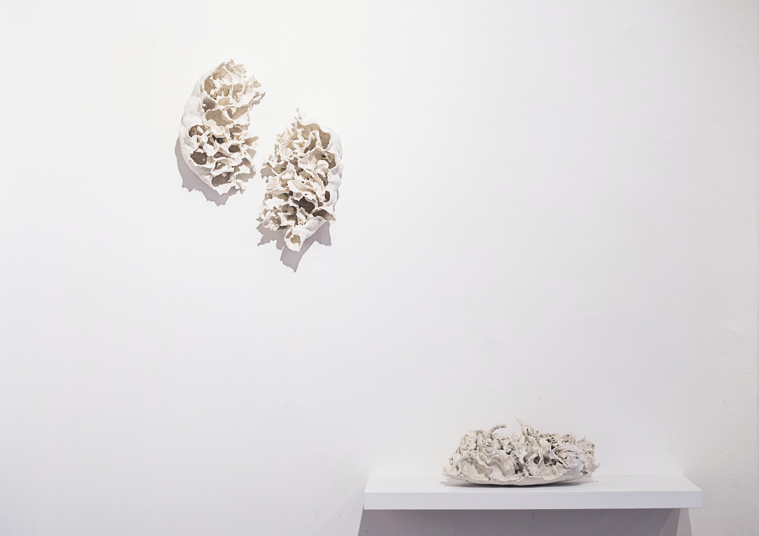 Lan Zhaoxing and Renqian Yang: Between Mountains  installation view, photograph by Nadia Peichao Lin. ©Lan Zhaoxing and Renqian Yang, courtesy Fou Gallery.