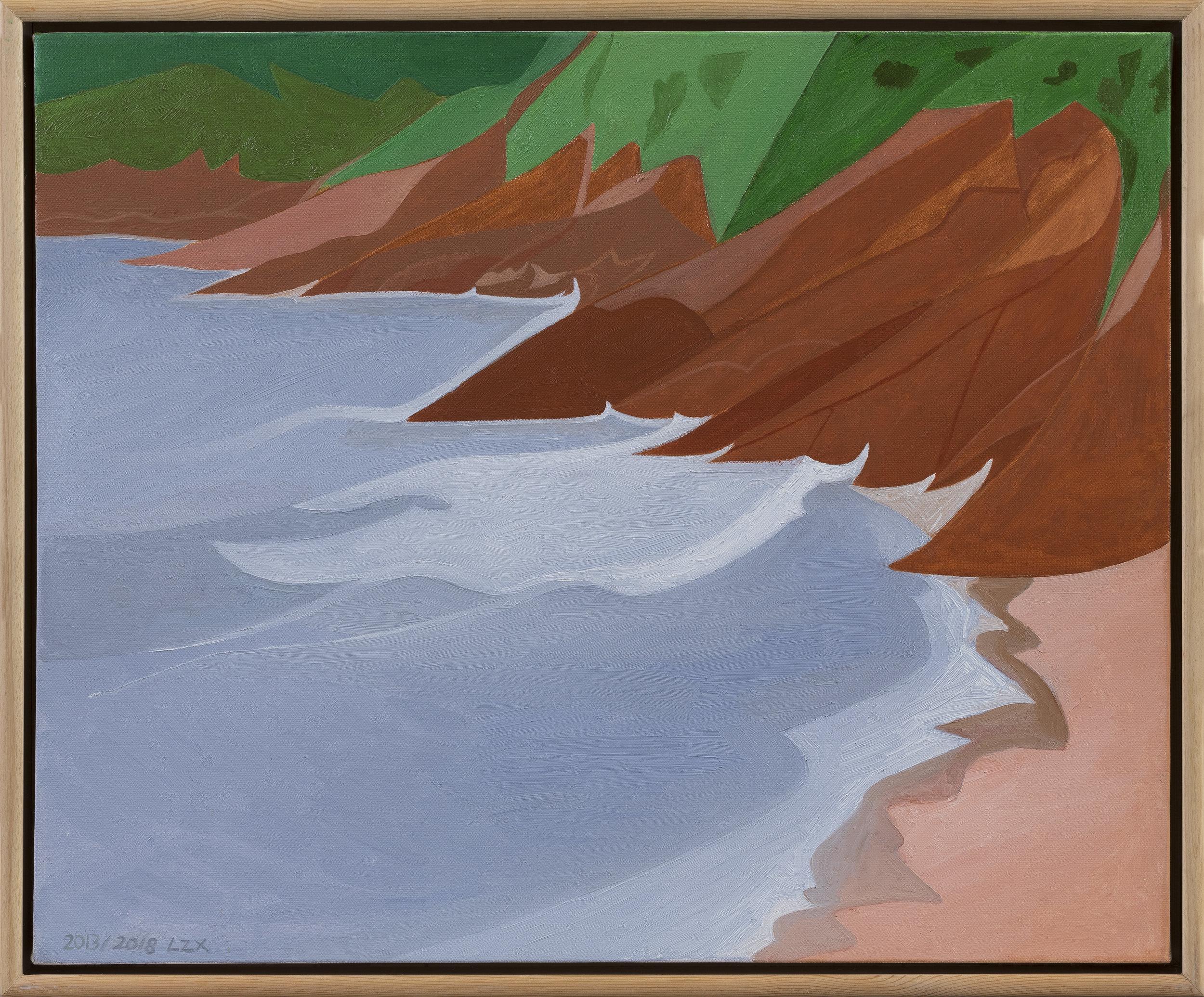 Lan Zhaoxing,  Seaside 1 , 2013. Oil on canvas, 19.6 x 23.6 inch © Lan Zhaoxing, courtesy Fou Gallery