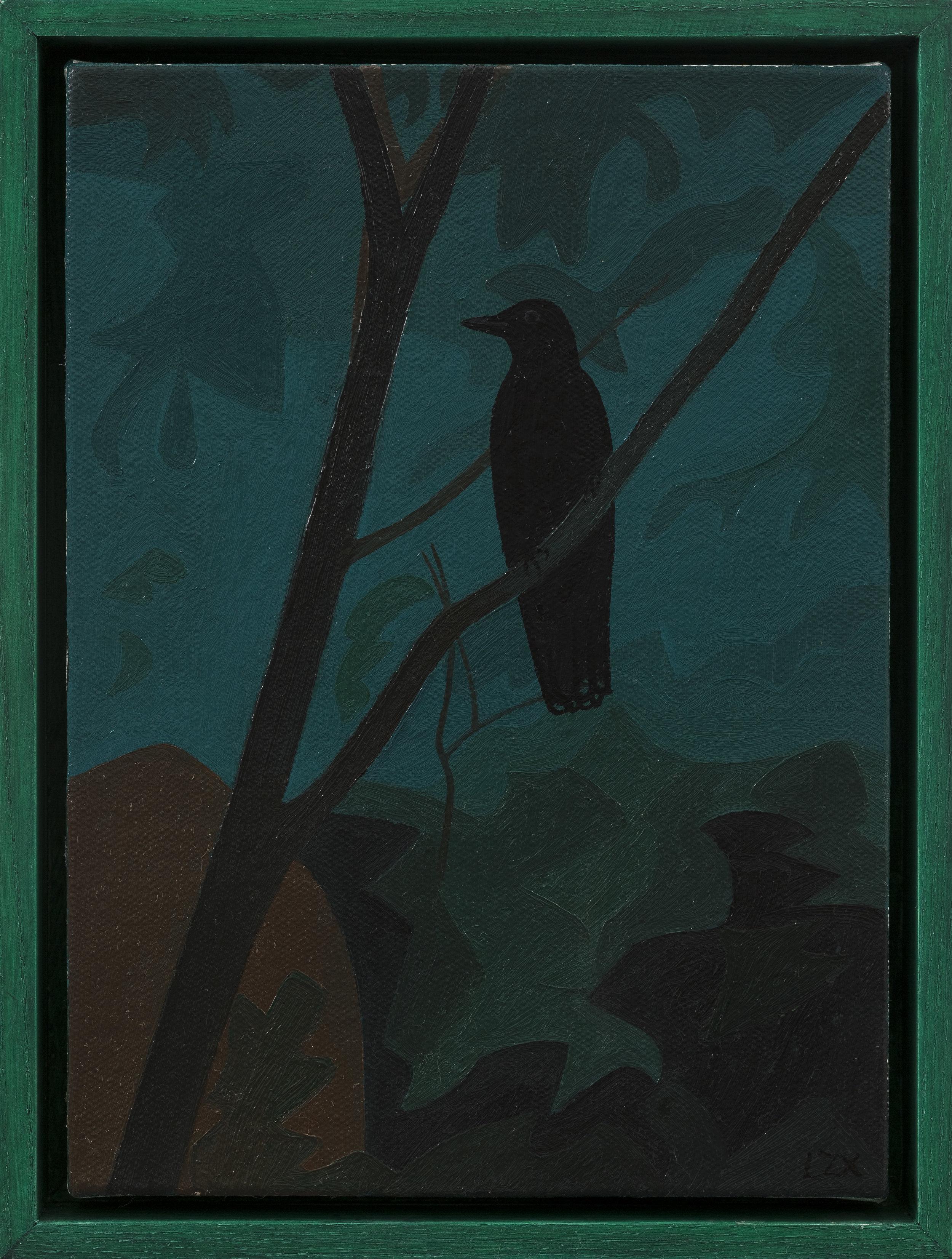 Lan Zhaoxing,  A Bird , 2018. Oil on canvas, 11.8 x 8.6 inch © Lan Zhaoxing, courtesy Fou Gallery