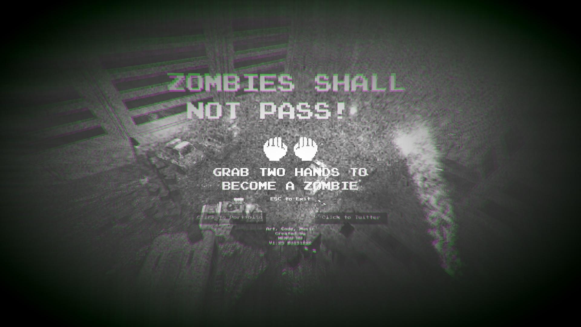 Still image from  Zombie Shall Not Pass! . © Wengu Hu
