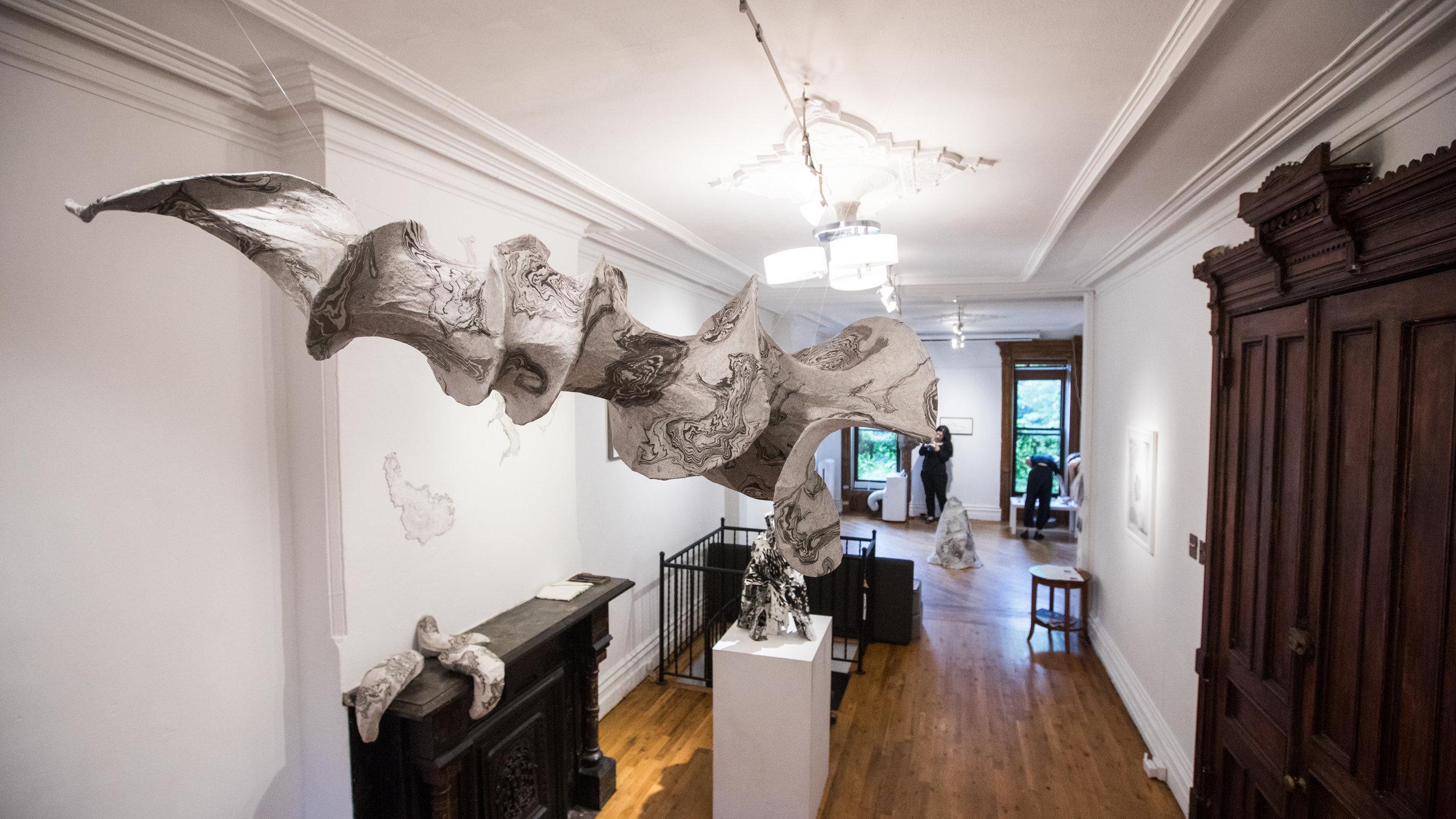 Jisook Kim & Hilda Shen: Orogenies  installation view. Photograph by Nadia Peichao Lin. © Jisook Kim and Hilda Shen, courtesy Fou Gallery.