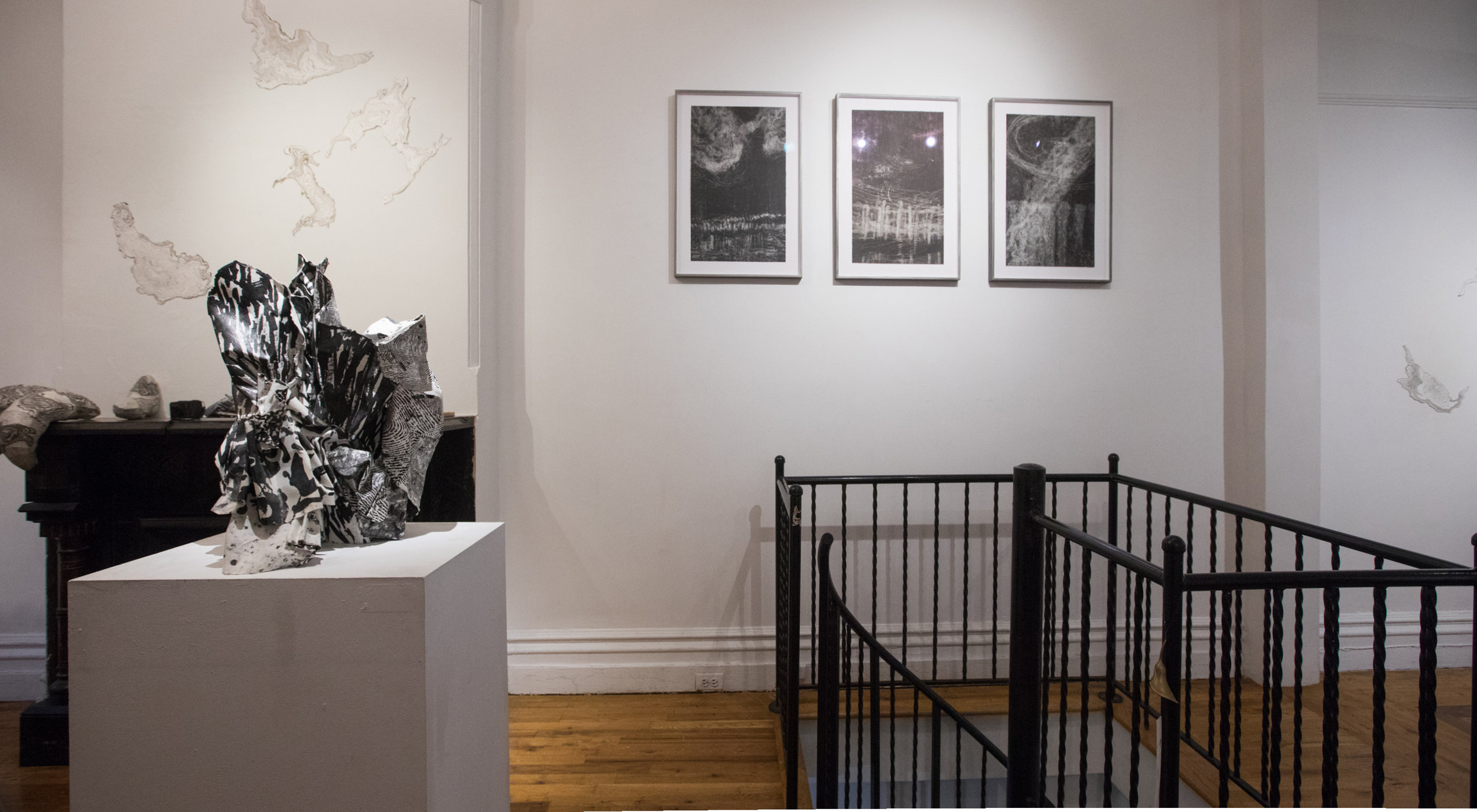 Installation view of  Jisook Kim & Hilda Shen: Orogenies , photo credit to Nadia Lin, courtesy Fou Gallery