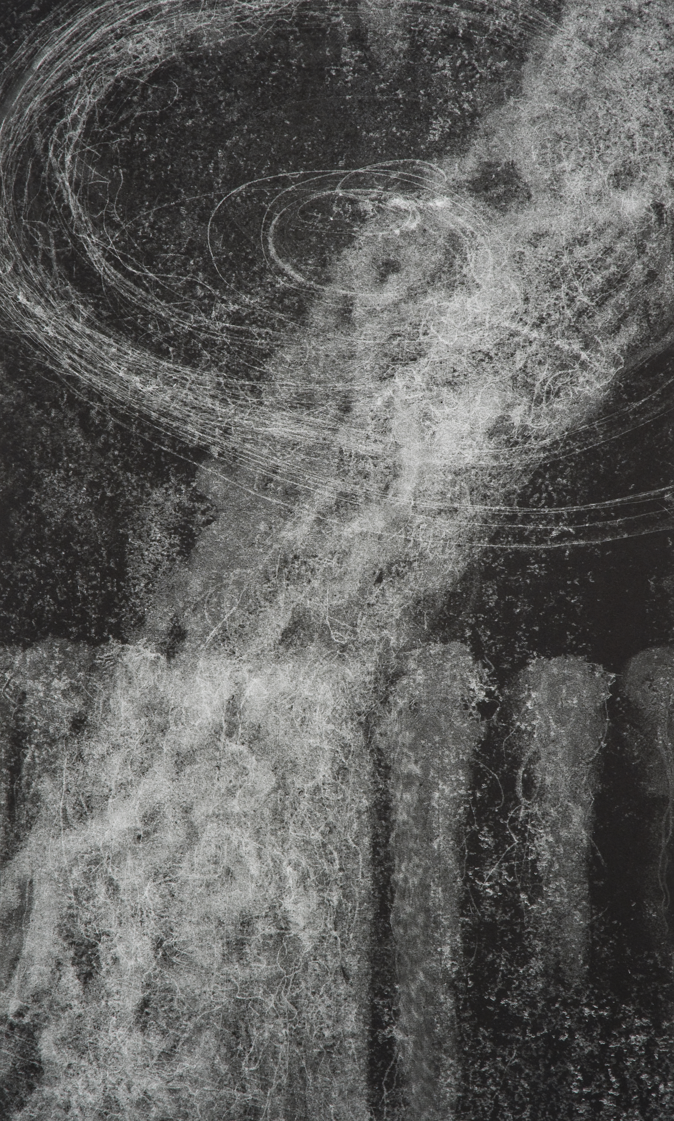Hilda Shen, Illumined Triptych (right), 2010. Set of 3 unique monotypes, 15 x 25 inches, ©Hilda Shen, courtesy of Fou Gallery