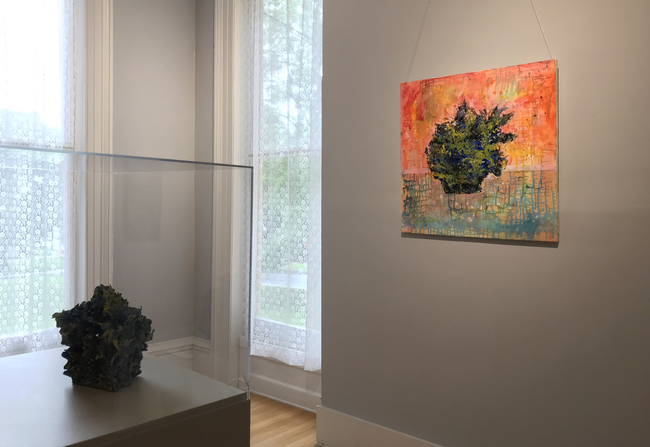 Renqian Yang Solo Exhibition at the Cayuga Museum of History and Art  installation view. Photograph by Echo He, Edited by Yuan Fang. ©Renqian Yang, courtesy Cayuga Museum of History and Art and Fou Gallery.