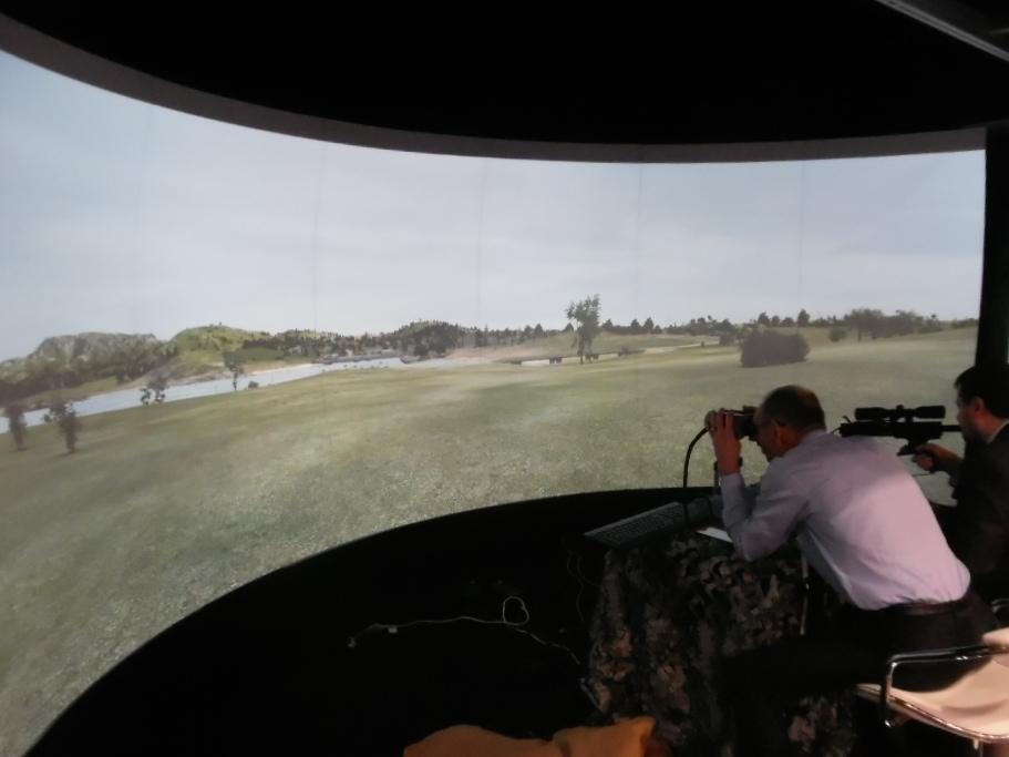 AVS simulator binoculars and rifle optic on display with Bohemia Interactive Australia at the 2016 Australasian Simulation Congress