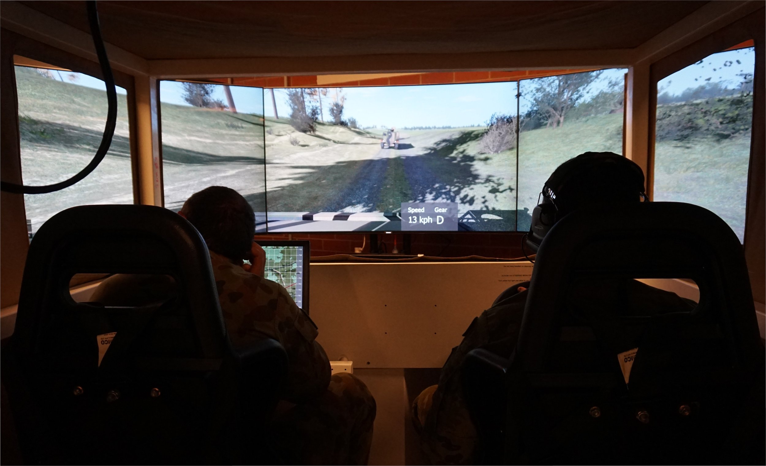 The Protected Mobility Tactical Trainer allows vehicle crews to undertake a range of tactical tasks within a virtual environment.