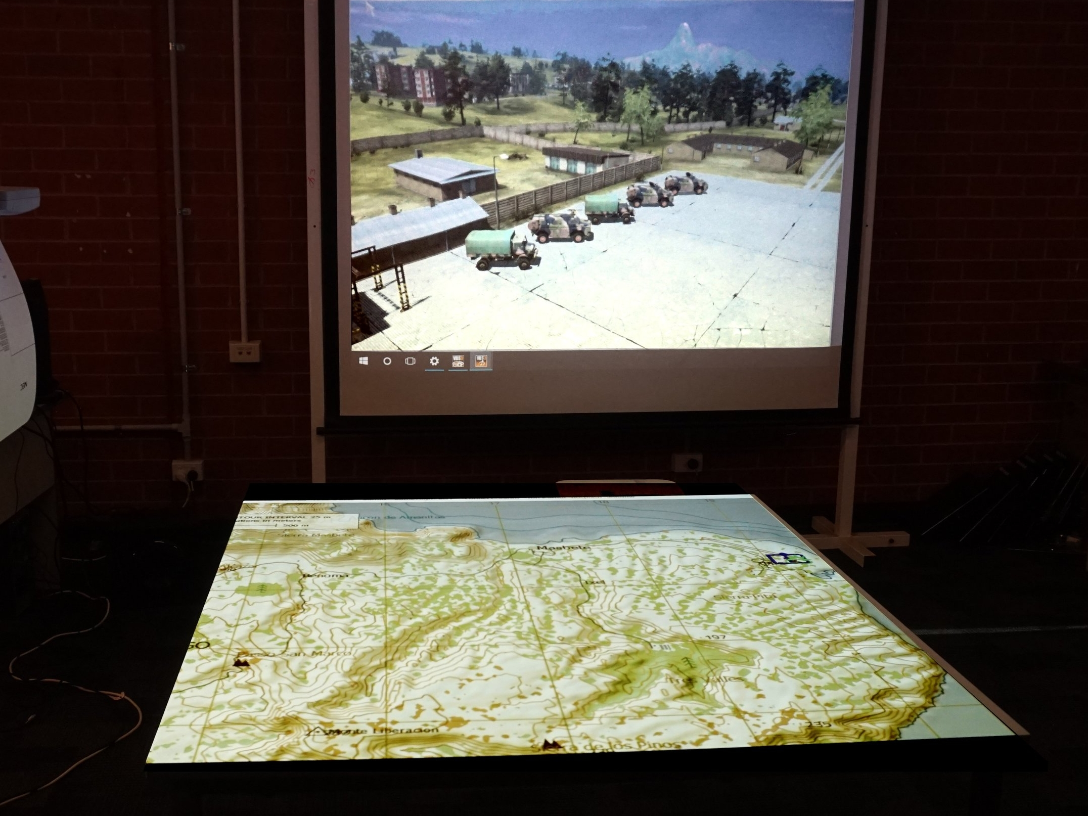 AVS designed digital map table, used for the delivery of orders and after action review