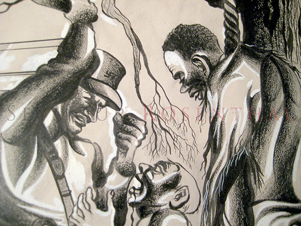 Negro Lynched Burned Alive