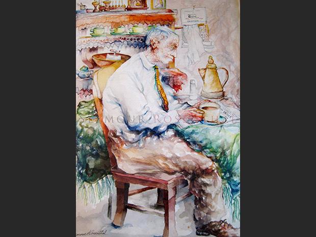 Papa with Coffee