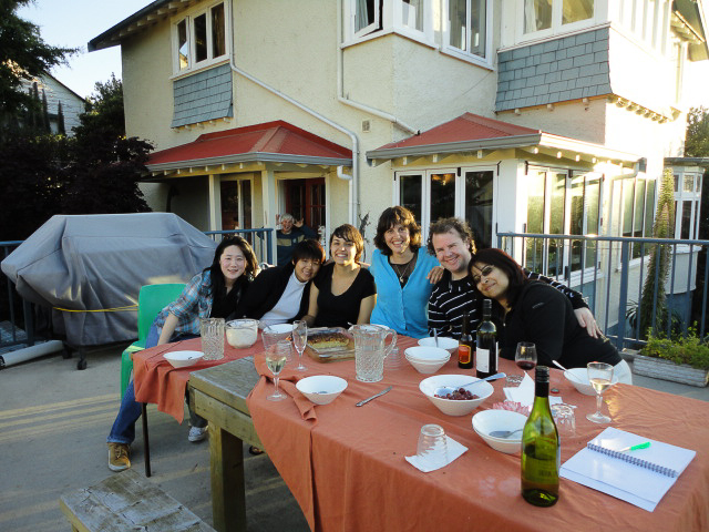 Guests enjoying a meal on the terrace