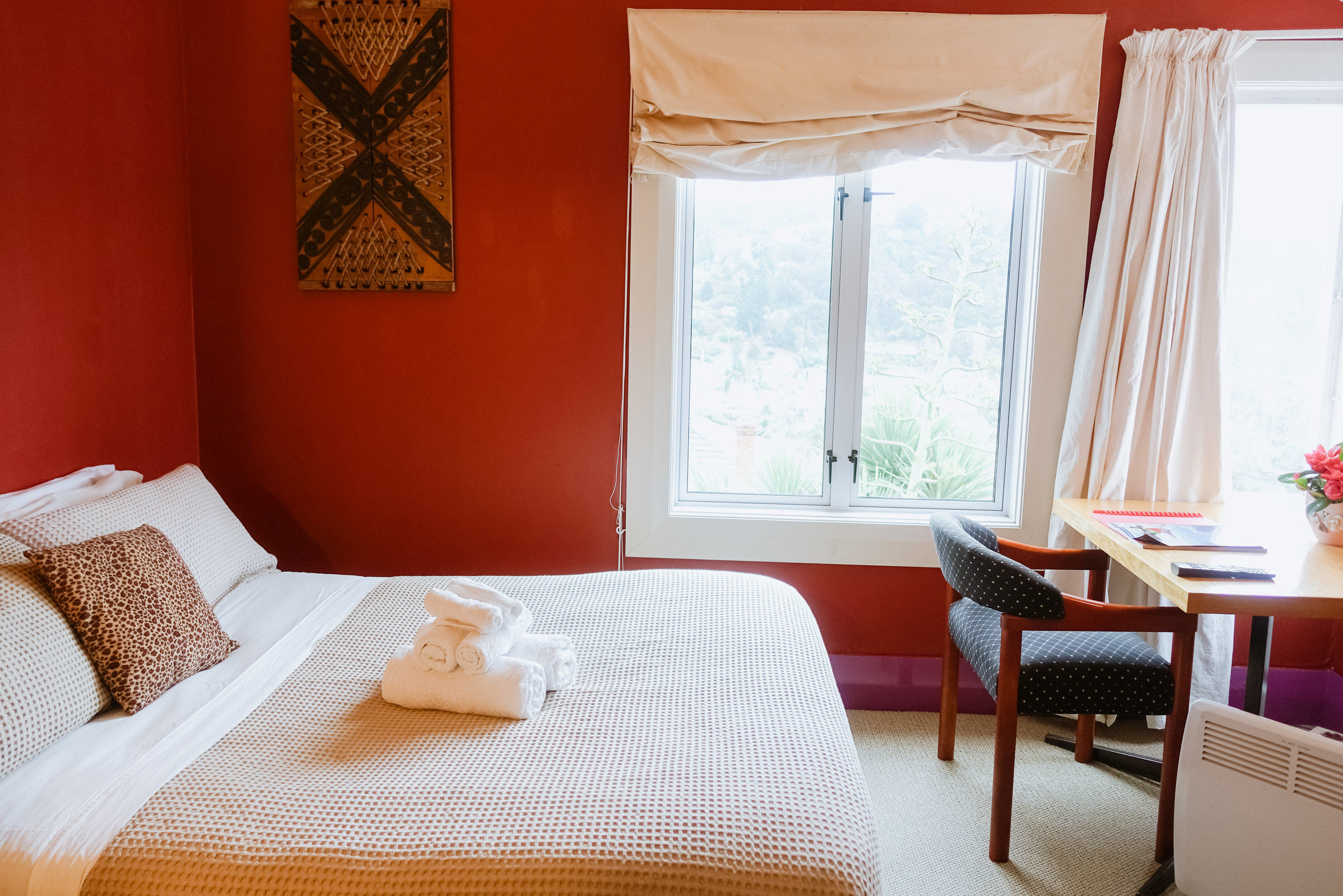 One of the Double + Single bed rooms