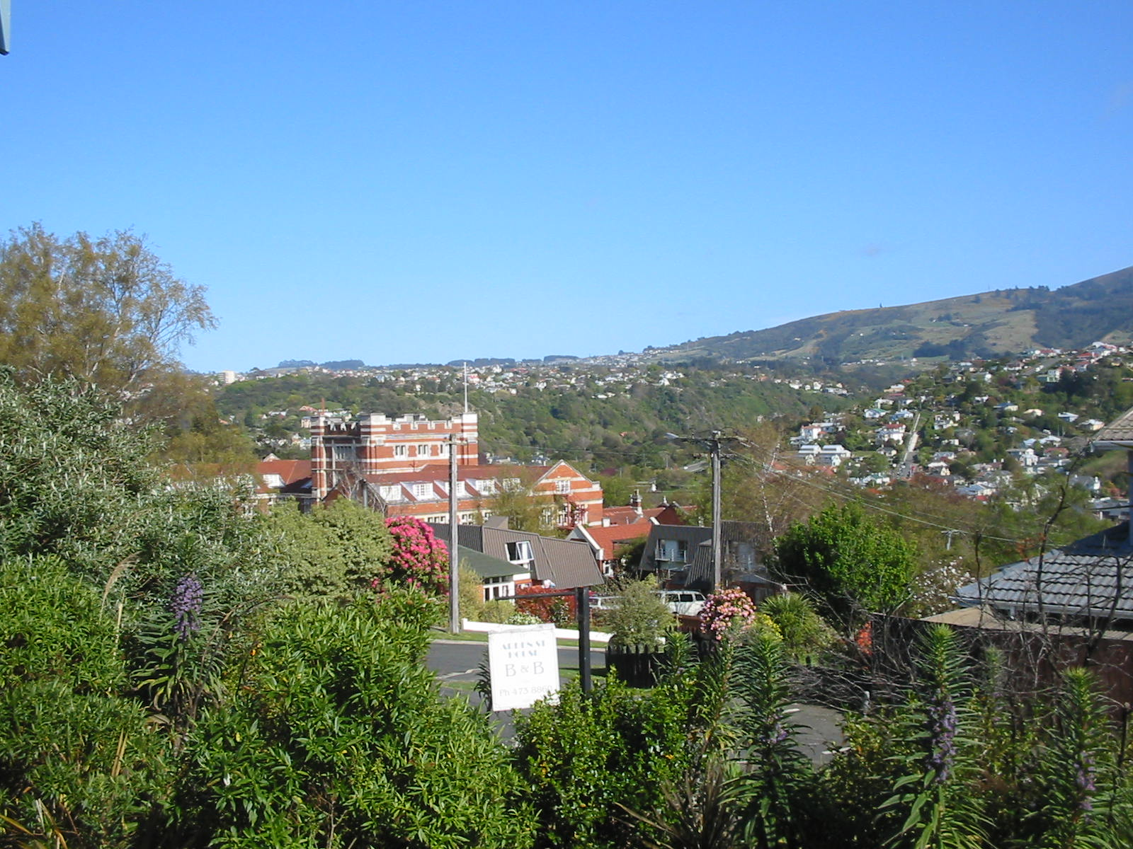 The view towards nearby Knox College From Arden Street House