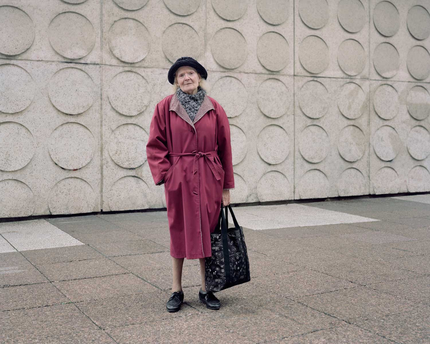 Paulette, 83, photographed in 2015 at Les Damiers, Courbevoie, by Abro+ Henri Kandjian, Jacques Binoux and Michel Folliasson (1976-78).