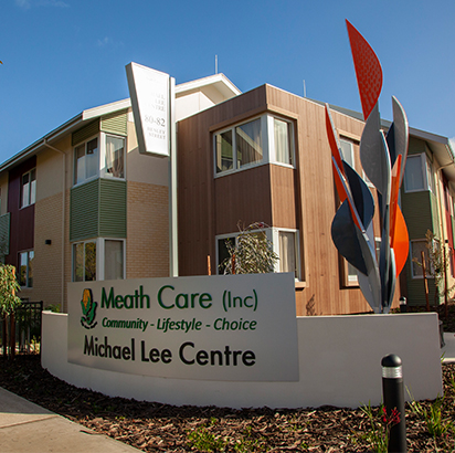 MEATH CARE - MICHAEL LEE CENTRE, COMO   New Aged Care Facility | Como, Western Australia  130 place aged care facility in Como located between leafy streets and the scenic surrounds of Collier Park golf course, opening 2019. The facility comprises of two storey high care with dementia specific design on the ground floor. The design is based on single loaded corridors and a courtyard model allowing for maximum light and good orientation for wayfinding. Design consultation services from concept to completion including finishes provided by de Fiddes Design. This project was completed in July 2019