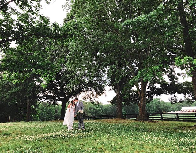 "thank goodness for breaks in the weather and golf carts. Heather & Brandon had a perfect day in spite of the torrential downpours, epitomizing our favorite credo: ""all that matters is at the end of the day, you're married."" #shotoniphone"
