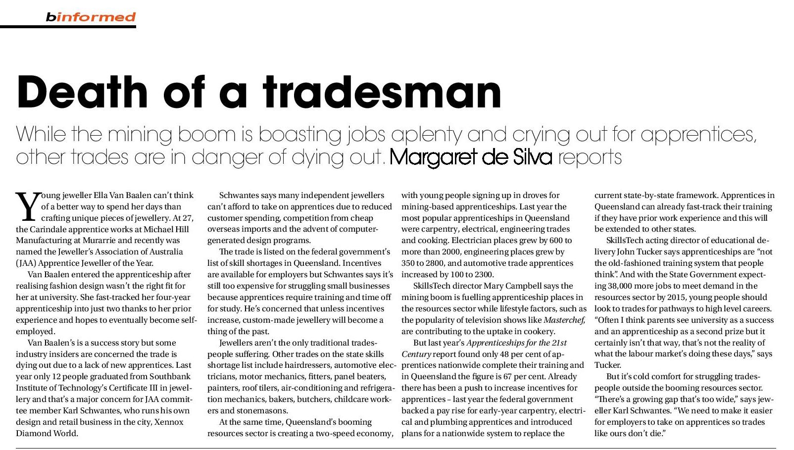 news — Margaret de Silva
