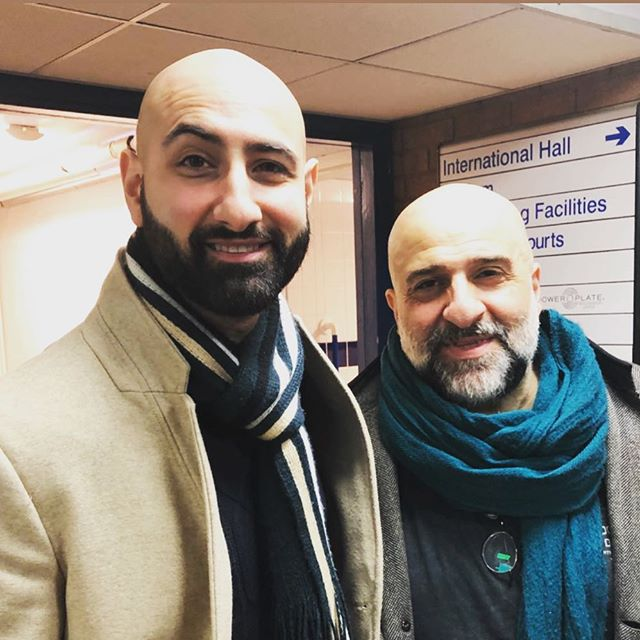 #10yearchallenge 😂😂😂 What a legend and gent! After speaking to @omiddjalili on the Celebrity Special of @alltogethernowtv, it was amazing to meet him properly at his show last night. He smashed it!  Who would like to see us in a sit-com?????? 🤔🙋🏻‍♂️