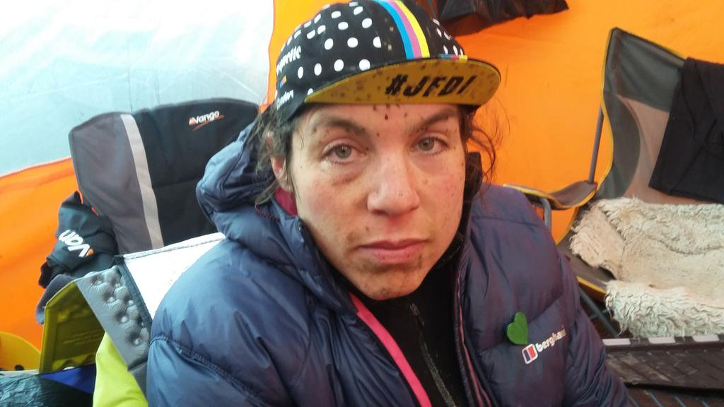 Chappell, moments after finishing Strathpuffer. Glow of victory not yet visible