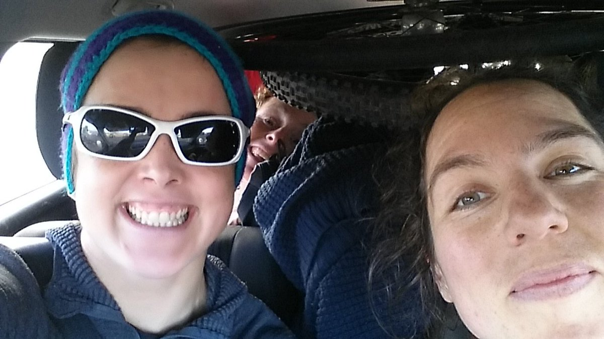 Roadtrip:the energy and banter of a long (and squashed) ride home did wonders for my mojo