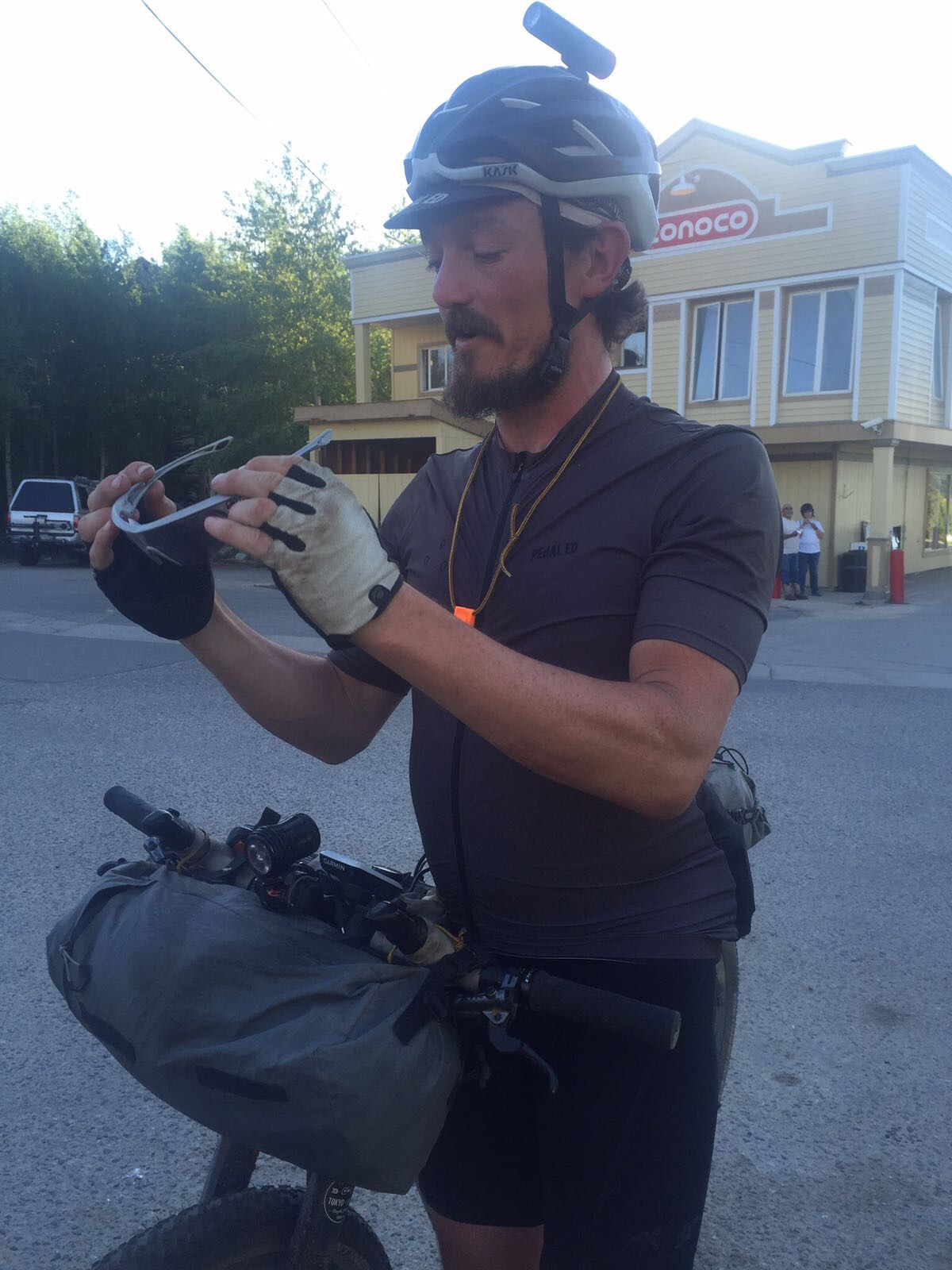 Mike Hall in Breckenridge, CO setting the record on the Tour Divide in 2016