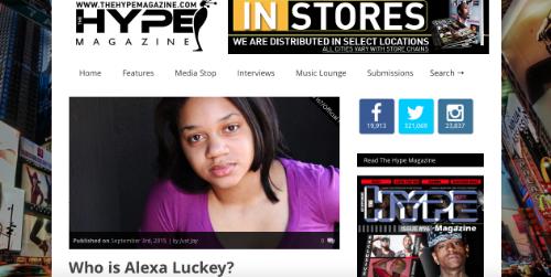 Alexa Luckey Hype Magazine
