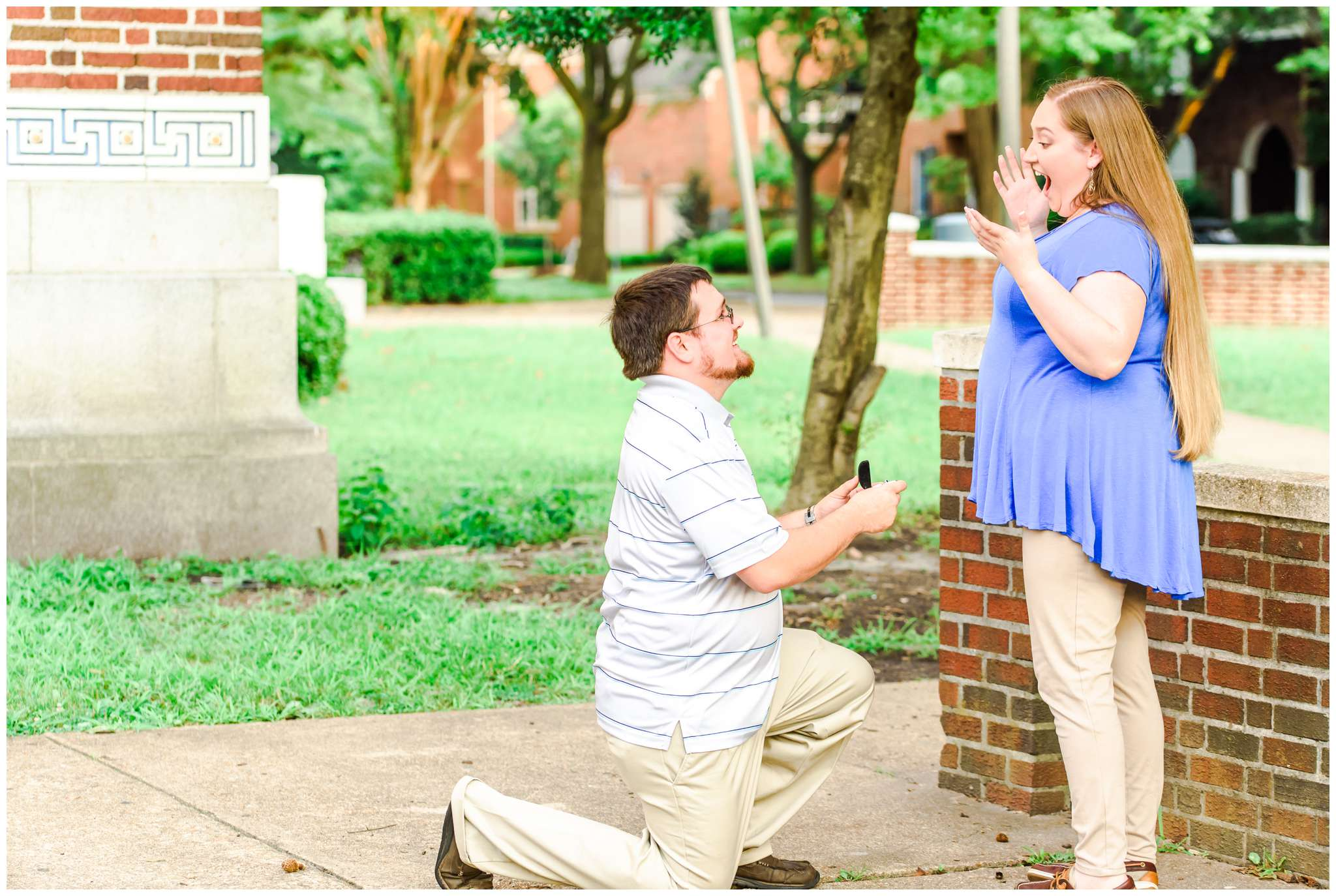 Since this was the spot that Joe proposed, we decided to do a little reenactment of the proposal! :)