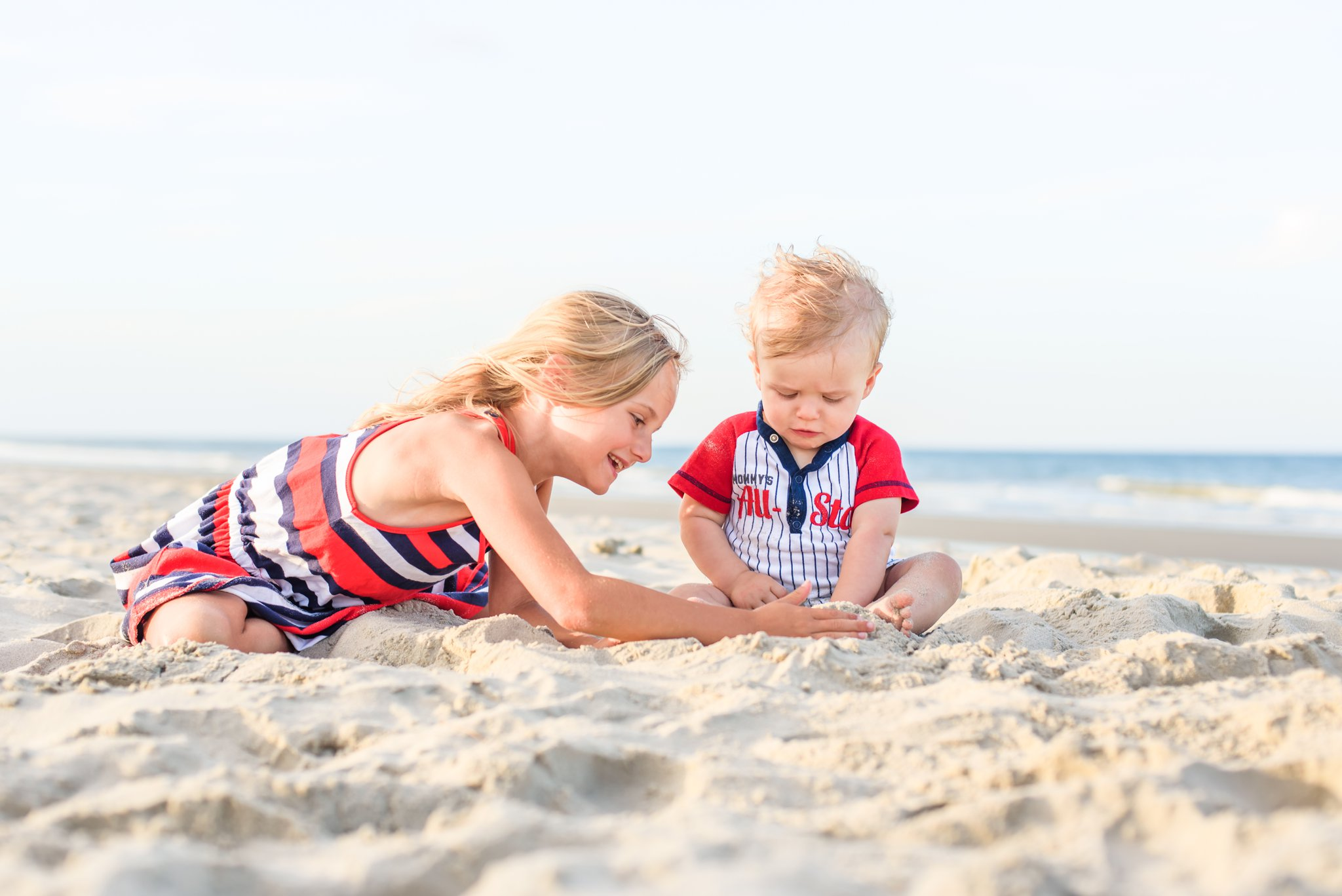 Makayla and Mason! Loved this one of her playing in the sand with him.