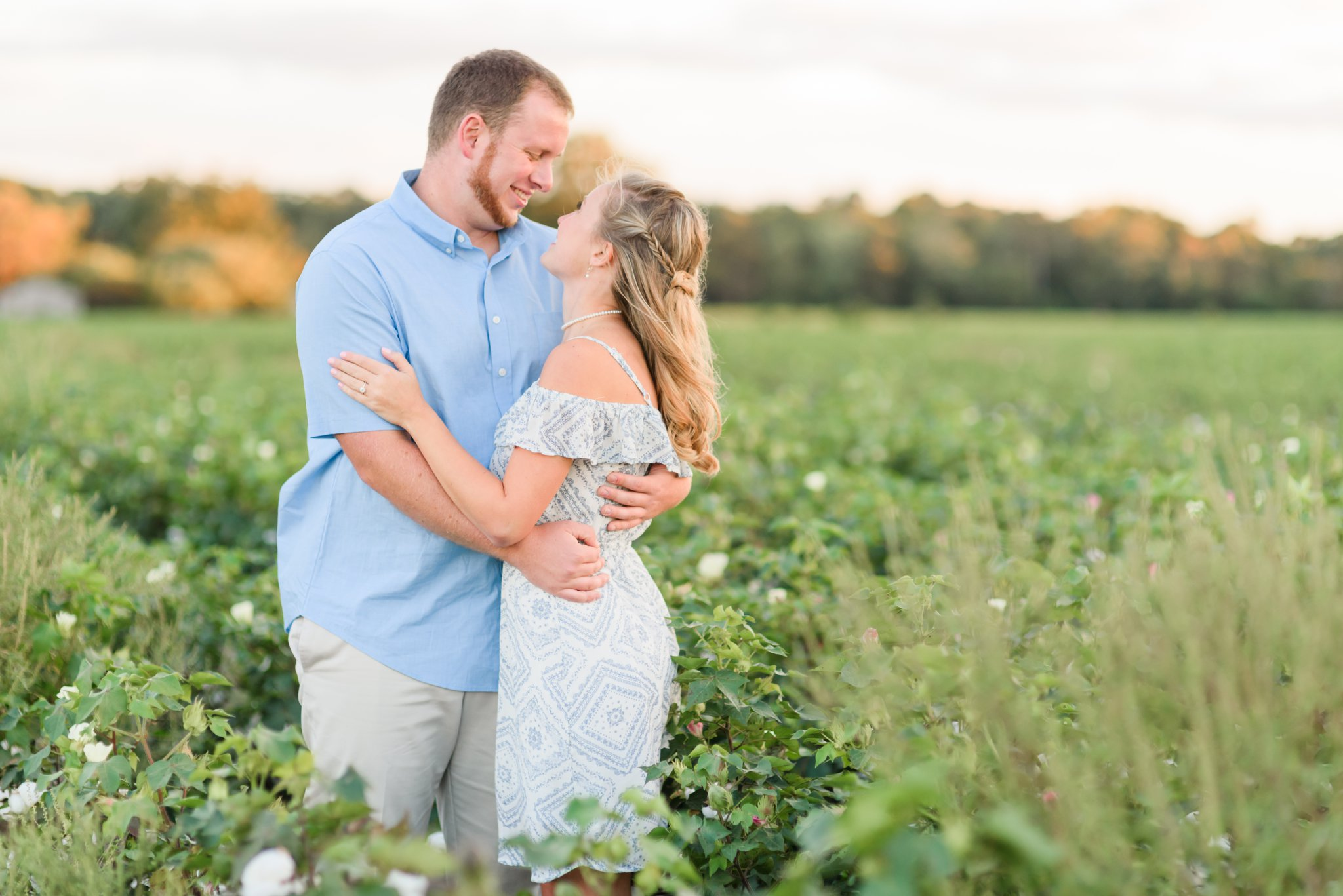 We ended the session in a nearby Cotton Field with the most AMAZING light!!!