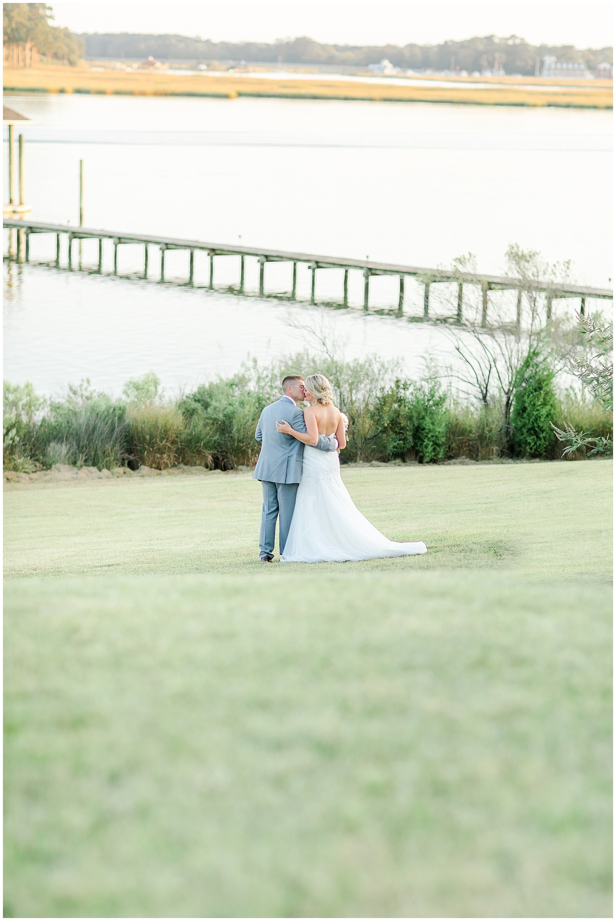 Last shot of the evening with the sun beginning to set. I loved the golden glow off the water. Congrats Mr. and Mrs. Corbett!!!