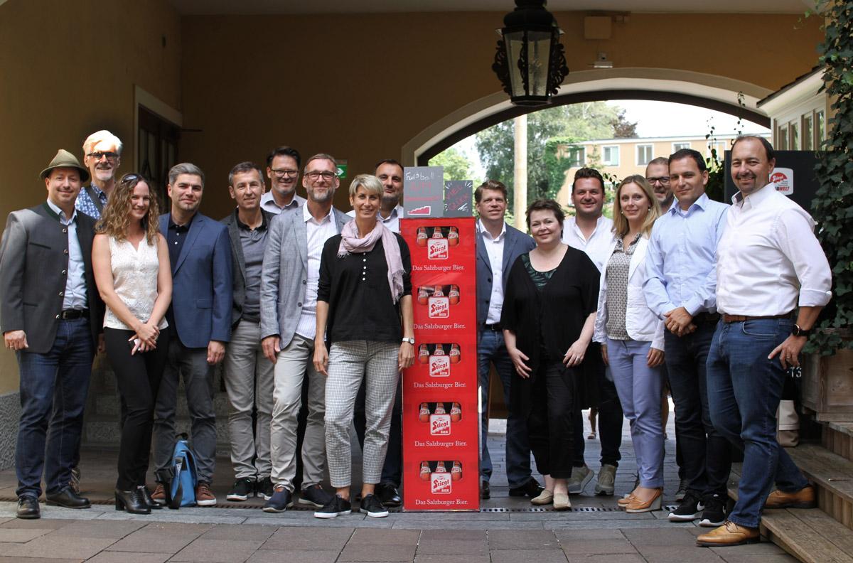 Die TeilnehmerInnen des MarkenTags in der Stieglbrauerei zu Salzburg GmbH