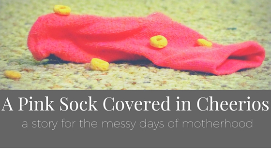 A Pink Sock Covered in Cheerios.jpg