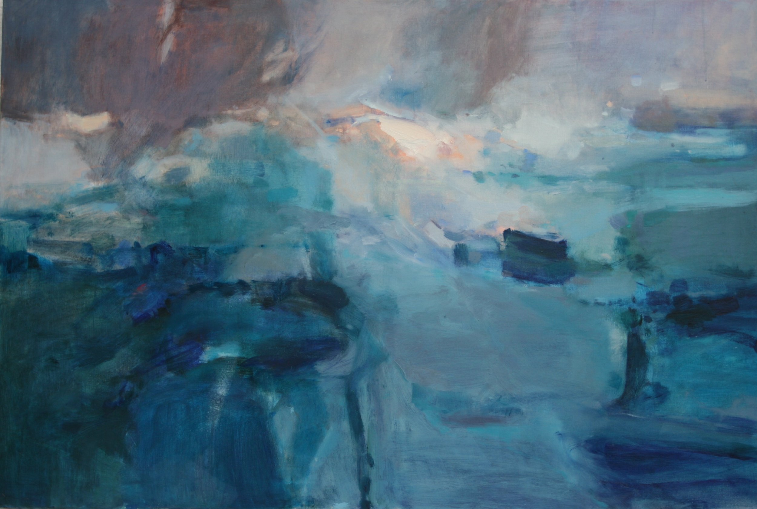 Dawn approaching Scilly Oil on canvas 2015 90x60 cms.jpg