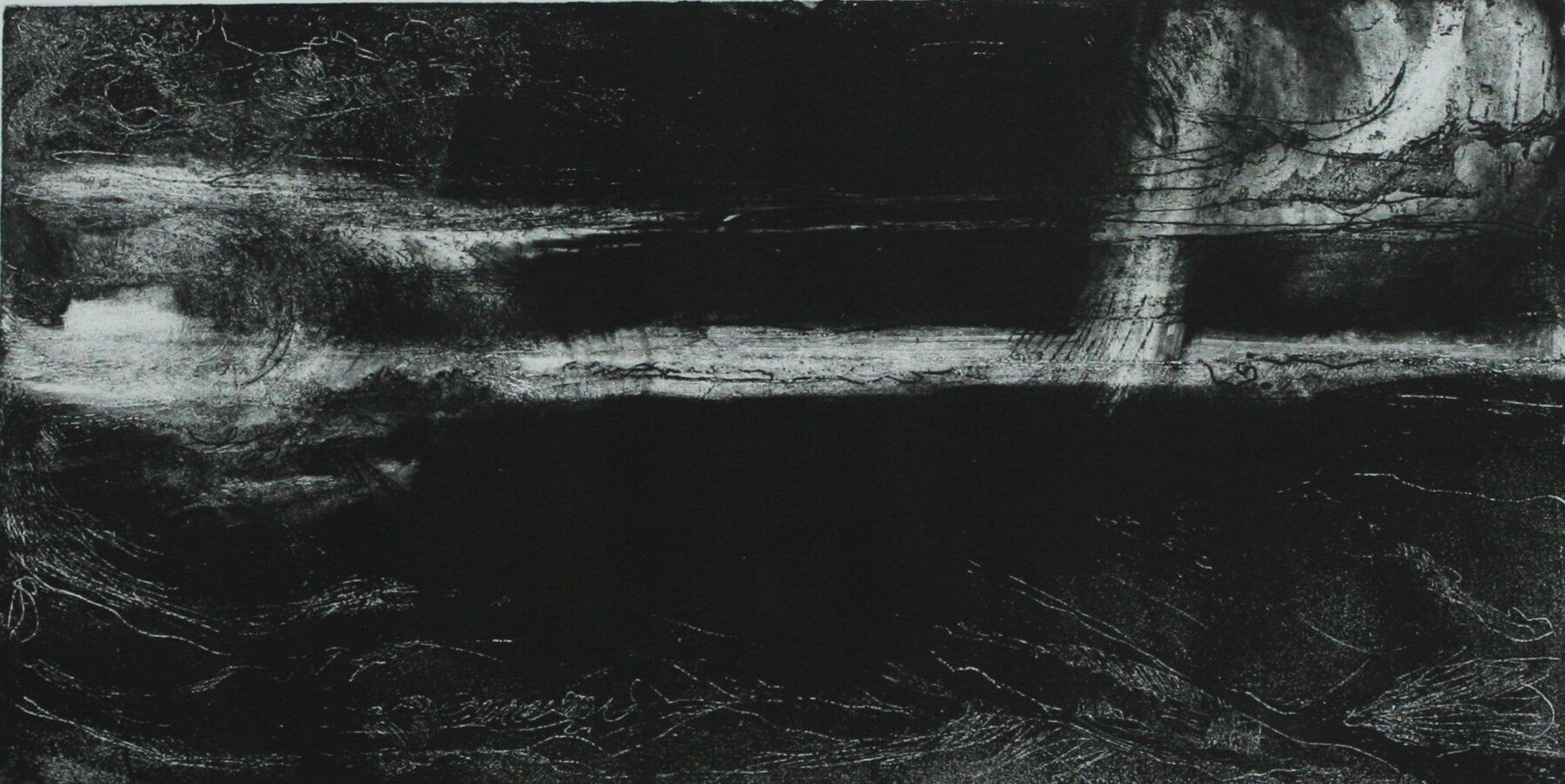 Night Watch - Monotype Etching