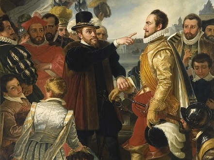 """William the Silent was Protestant, but served King Charles who was Catholic. His son, Phillip, King of the Netherlands attacked the Protestants. William raised an army of """"Beggars"""" who fought King Phillip and made William king. Holland proclaimed its sovereignty in 1581."""
