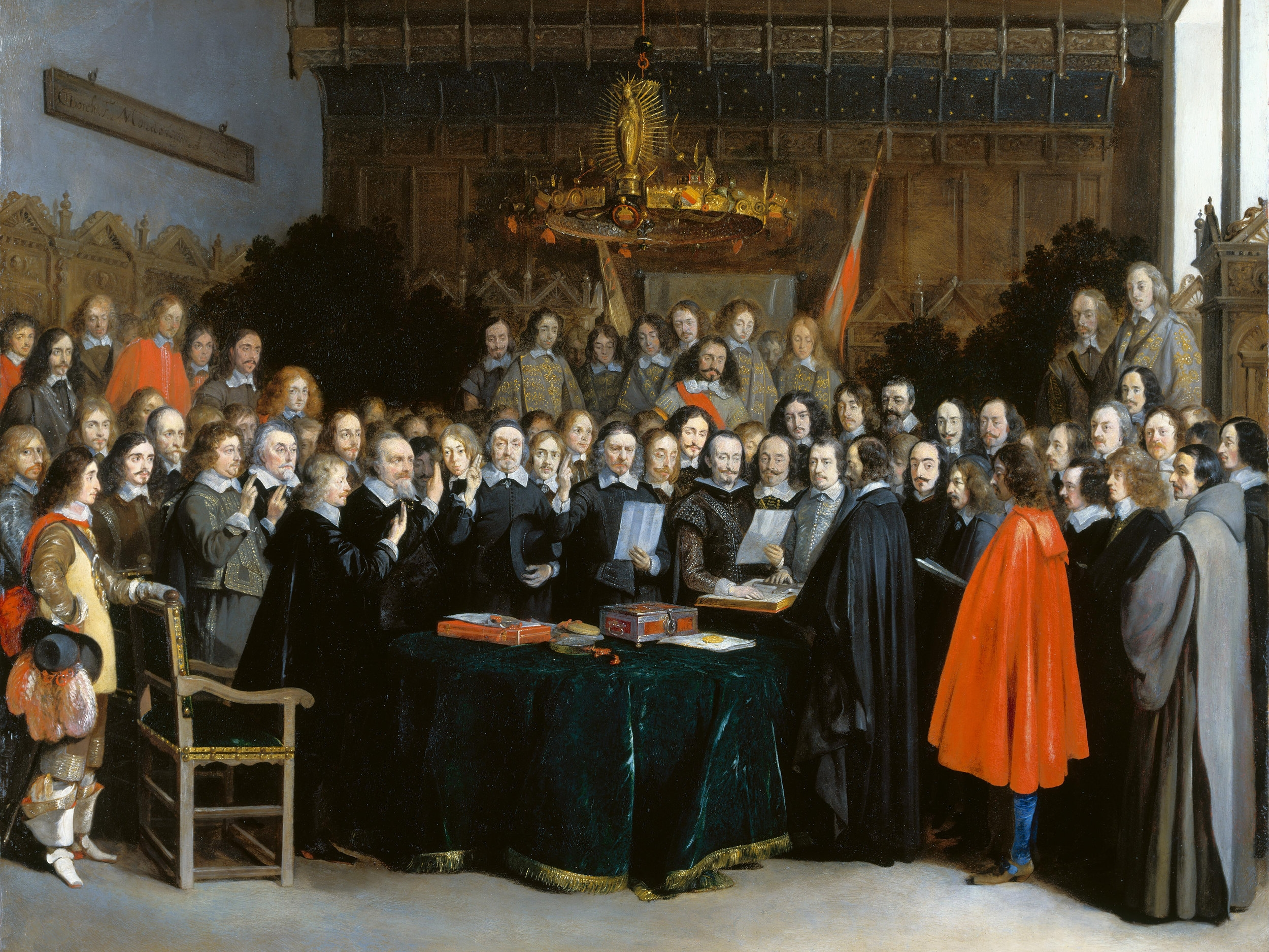 Bohemian Protestants feared losing their freedom because German King Ferdinand II wanted everyone Catholic. After riots, executions, The Thirty Year's War against protestant princes and their allied nations, the Peace of Westphalia in 1648 established the Westphalian System of Nation States.
