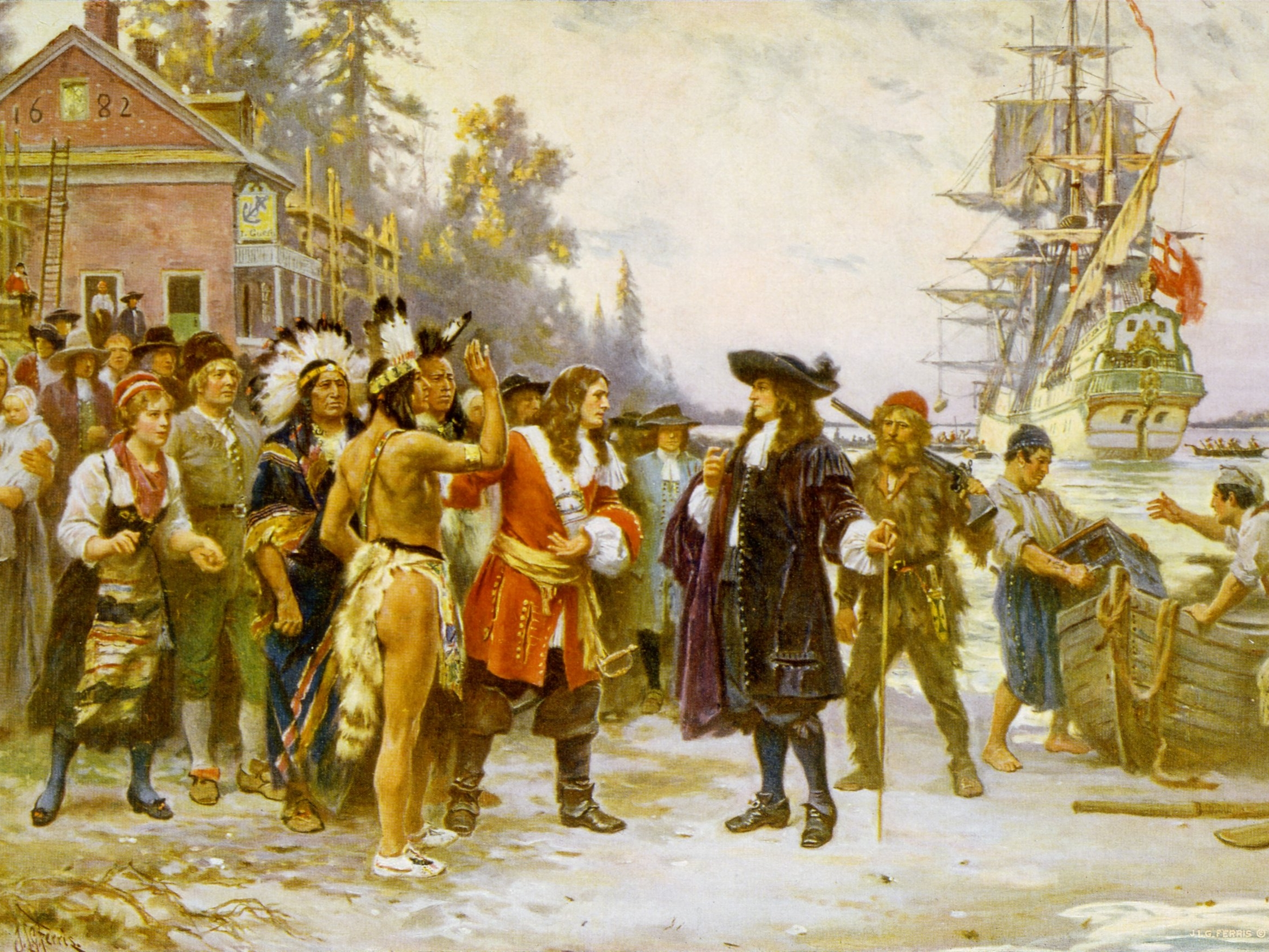 Metacom, King Philip of the Wampanoag tribe, waged war against English who took over his land. The Iroquois fought the French in Quebec while Quaker William Penn founded Philadelphia. When Charles II died, Catholic James SECond wore the English crown, but William and Mary became King and Queen in the Glorious Revolution of 1688.
