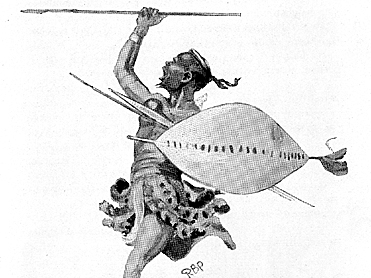 Shaka, Zulu warrior king, armed his fighters with new weaponry, taking villages and shattering the tribal system of South Africa. On Cape Horn, English colonists displaced Dutch farmers called the Boers. They fought back in 1854 to found the Orange Free State and the Transvaal.