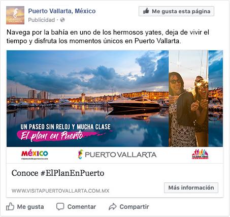 Creación de textos publicitarios y supervisión de estrategia digital de Puerto Vallarta para campaña de vacaciones de invierno 2018