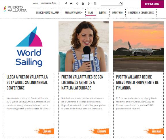 Creación y supervisión de contenido editorial para Puerto Vallarta en Inglés y Español.