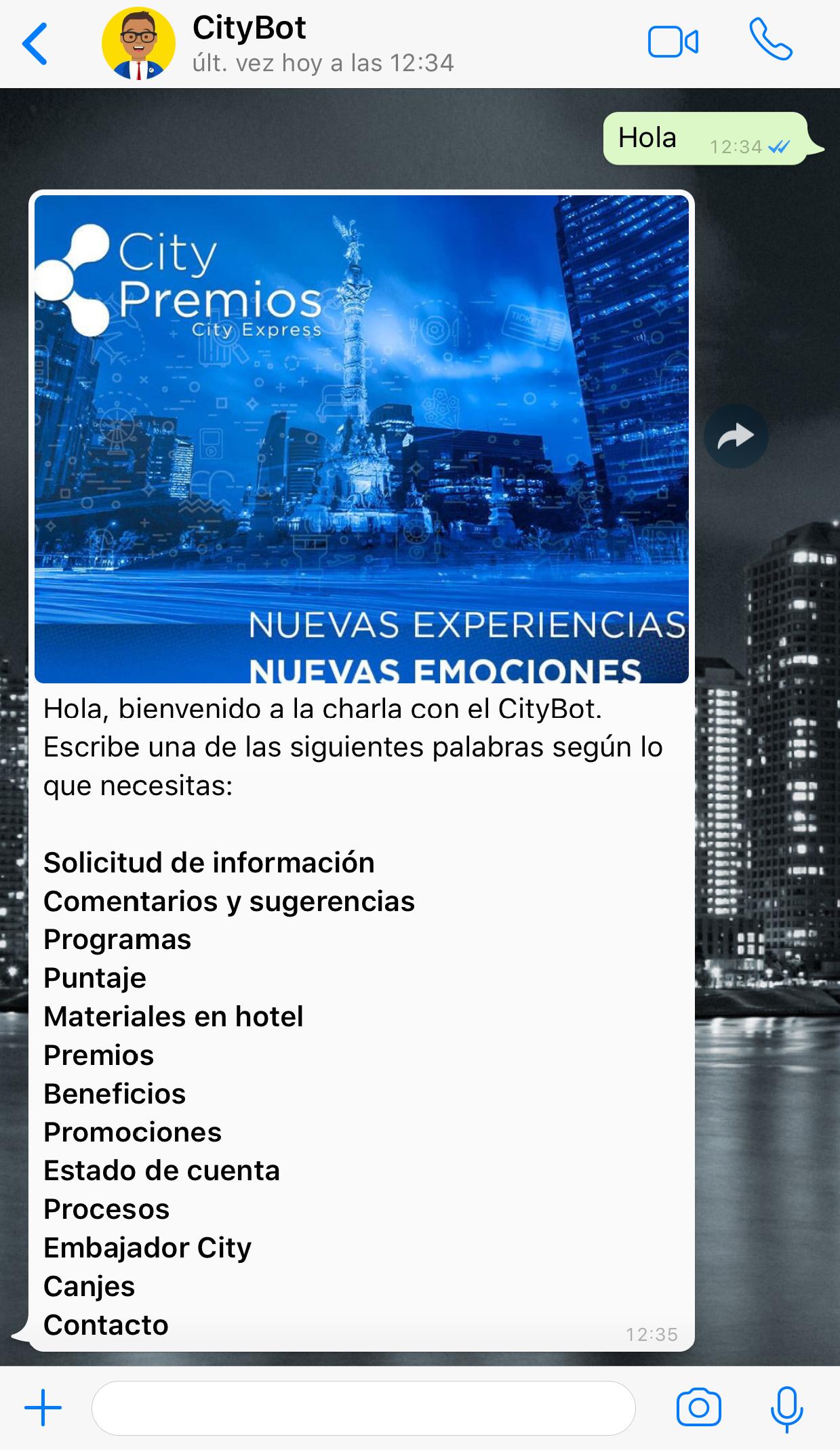 Canal interno CityExpress