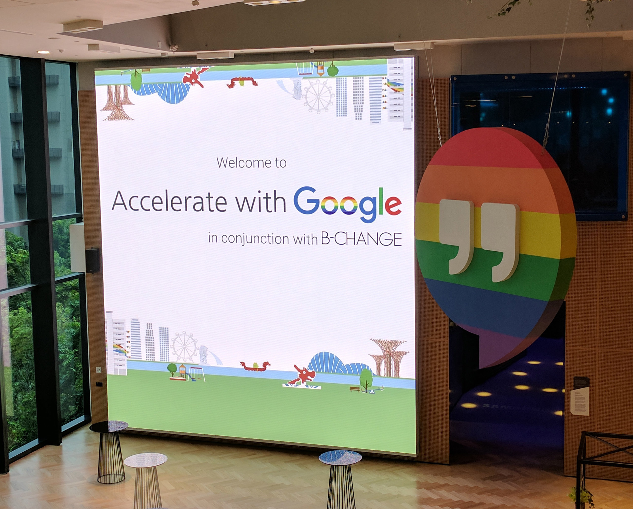 Google demonstrated how they help inclusive startups and small-medium enterprises thrive. It was the first time for B-Change and Google to work together towards making the world a more inclusive place for everyone. The one-day business seminar was held in Singapore on June 29. [Photo Credit: Google]